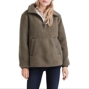 Madewell Olive Green Polartec Fleece Pullover